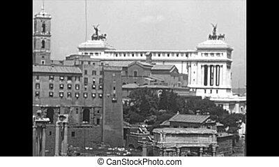 campidoglio, rome, aérien, archival, vue