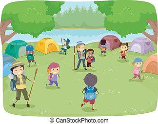camping, gosses