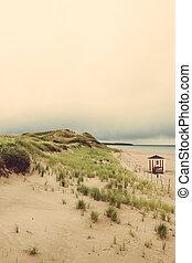 canada, île, edward, plage, prince
