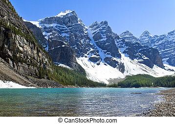 canada, agnes, banff, national, lac, parc, alberta