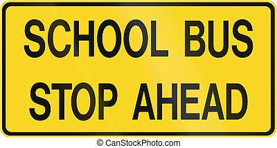 canada, autobus, école, arrêter