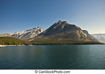 canada, banff, parc, minnewanka, national, -, lac, alberta