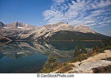 canada, banff, -, parc national, lac, arc, alberta