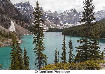 canada, banff parc national, lac, moraine, alberta