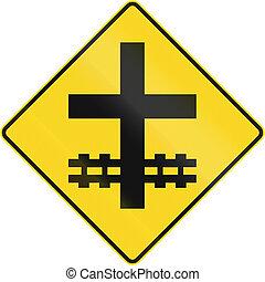 canada, croisement, intersection, niveau