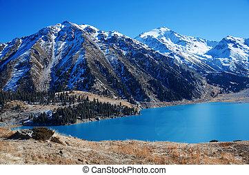 canada, lac, moraine
