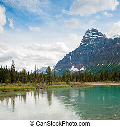 canada, mistaya, banff, national, lac, parc, alberta, route express, icefield