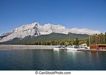 canada, montagne, banff, parc, national, -, cascade, alberta