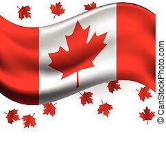 canada, national, voler, drapeau, jour, érable