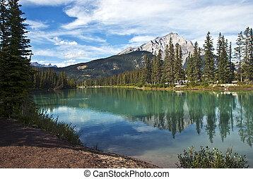 canada, parc, national, banff, alberta
