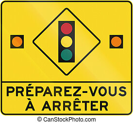 canada, préparer, arrêt, -, francais, lumières, trafic