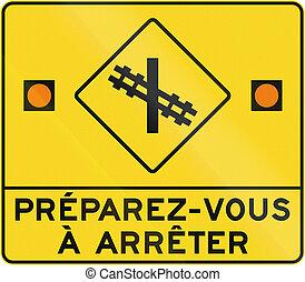 canada, préparer, niveau, arrêt, -, francais, croisement