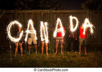 canada, sparklers, photographie, défaillance, temps