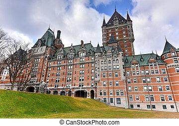 canada, ville, -, frontenac, québec, chateau