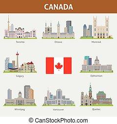 canada, villes