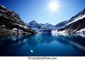 canadien, lac, mcarthur, canada, rockies