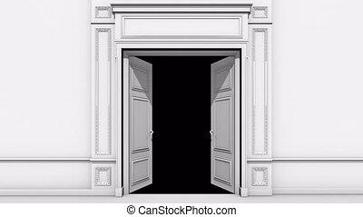 canal, alpha, porte, salle, ouverture