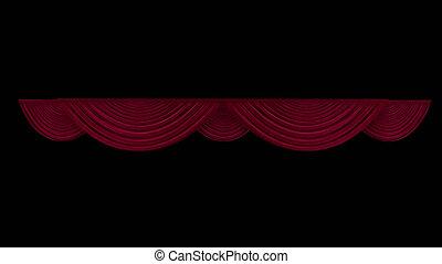 canal alpha, rideau, théâtre, rouges