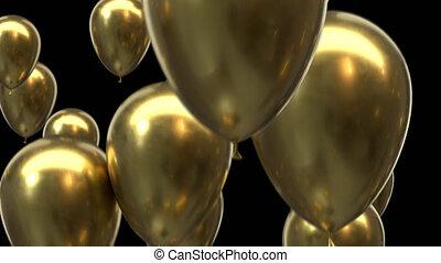 canal, ballons, or, boucle, alpha, voler