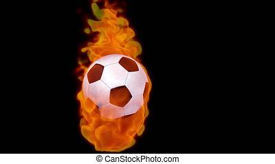 canal, brûler, alpha, boule football