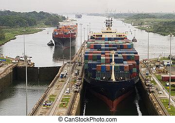 canal, cargo, panama
