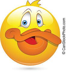 canard, rigolote, smiley, caractère, figure