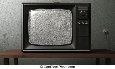 canaux, tv., vieux, commutation