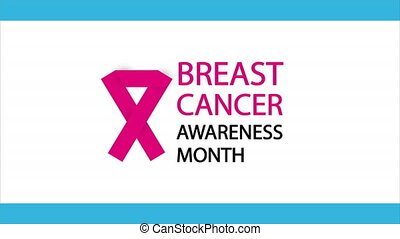 cancer, poitrine, mois, conscience