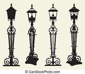 candélabres, réverbère