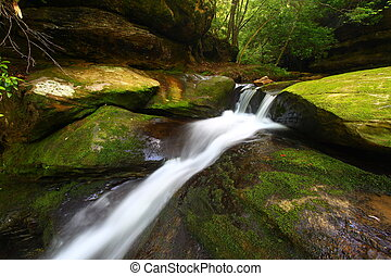 caney, alabama, -, ruisseau, chutes