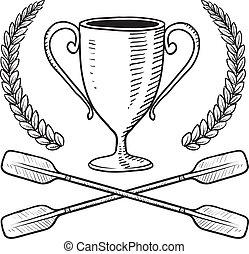 canotage, croquis, récompense