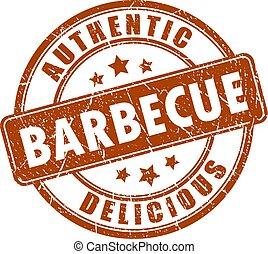 caoutchouc, barbecue, timbre