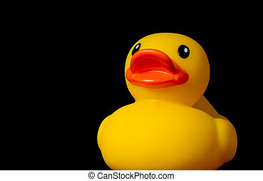 caoutchouc, canard jaune