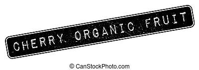 caoutchouc, cerise, fruit, organique, timbre