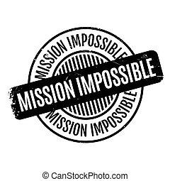caoutchouc, impossible, mission, timbre