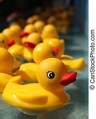 caoutchouc, jeu, duckies, flotter, carnaval