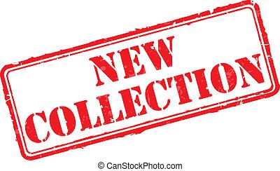 caoutchouc, nouveau, collection, timbre