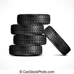 caoutchouc, pneus