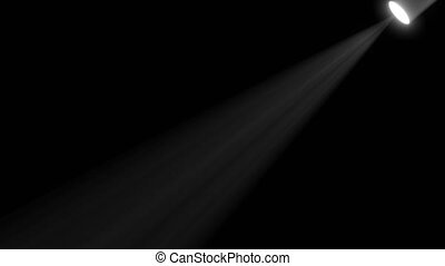 capable, lumière, lumières, animation., boucle, noir, rayons, étape, seamless, rayon, écran, fond