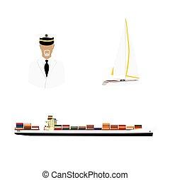capitaine, cargo, yacht