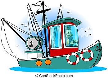 capitaine, sien, bateau