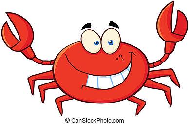 caractère, dessin animé, crabe, mascotte