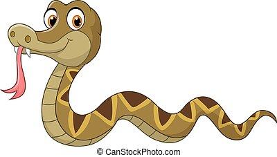 caractère, dessin animé, serpent