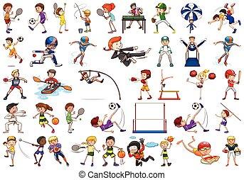caractère, ensemble, sport