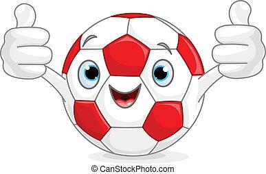 caractère, football, football