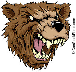 caractère, ours, mascotte