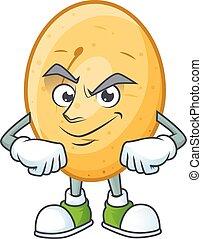 caractère, smirking, figure, style, dessin animé, pomme terre, mascotte