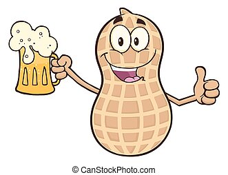 caractère, tenue, bière, arachide