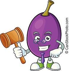 caractère, winne, fruit, délicieux, juge, dessin animé