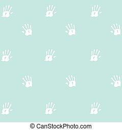 caractères, mains, seamless, modèle, enfant